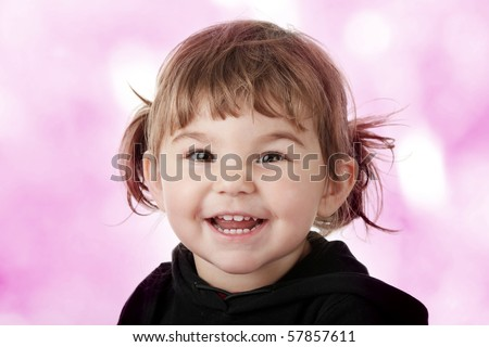 Portrait of a 2 year old girl - stock photo