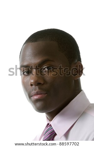 Portrait of a young african american man. - stock photo