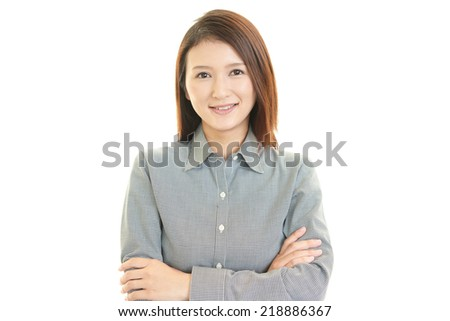 Portrait of a young Asian woman - stock photo
