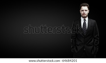 portrait of a young businessman with place for your text - stock photo