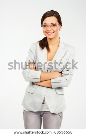 Portrait of a young confident businesswoman - stock photo