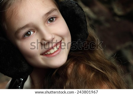 portrait of a young girl. emotsiyi.modna beautiful hairstyle. gorgeous, long hair - stock photo