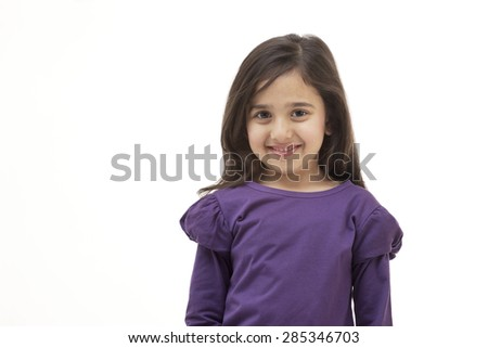 Portrait of a young girl smiling - stock photo