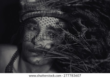Portrait of a young handsome man closeup - stock photo
