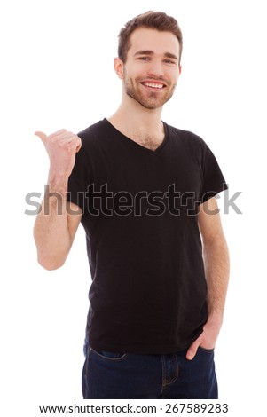 Portrait of a young man isolated on white background - stock photo
