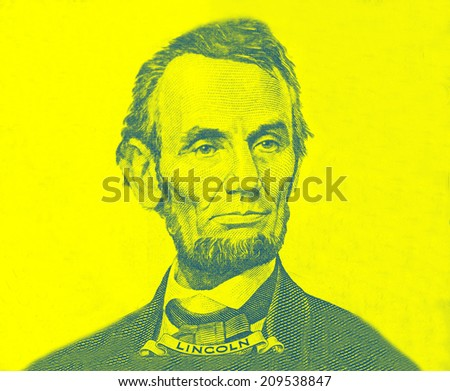 Portrait of Abraham Lincoln  - stock photo