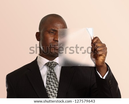 Portrait of an African American - stock photo