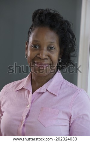 Portrait of an African-American woman with Portuguese ancestry - stock photo