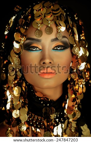 Portrait of an Arabian Princess - stock photo