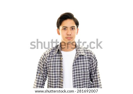 Portrait of an Asian man at home.  - stock photo
