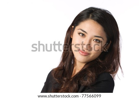 Portrait of an Attractive business woman shot in a studio - stock photo