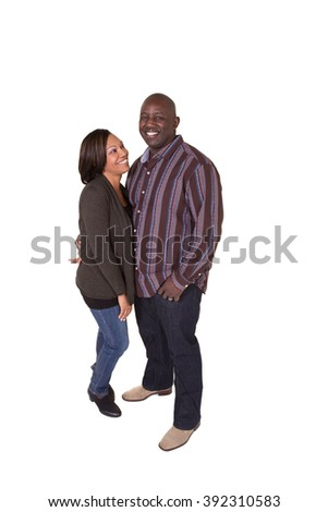 Portrait of an attractive middle aged couple looking at the the camera - stock photo