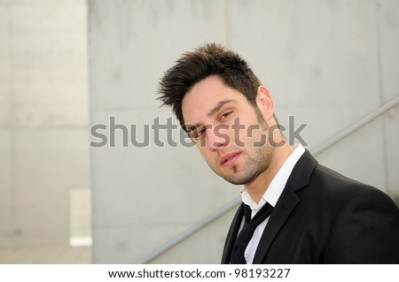Portrait of an attractive young businessman - stock photo