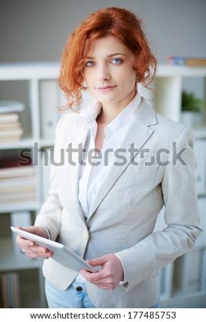 Portrait of an elegant business woman - stock photo