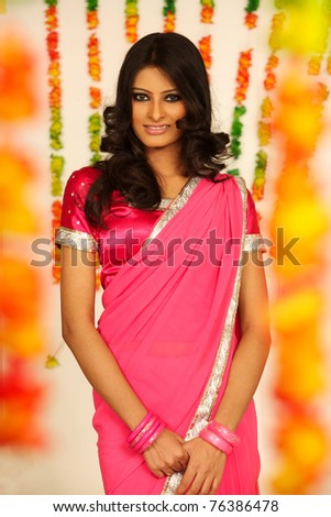 Portrait of an Indian beauty - stock photo