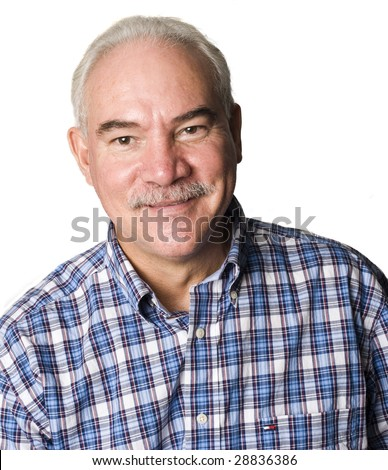 Portrait of an Latino man smiling - stock photo
