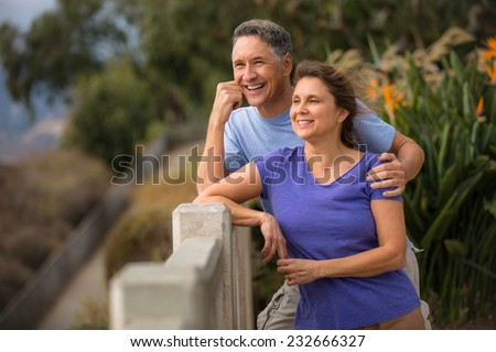 Portrait of an senior couple in love. - stock photo