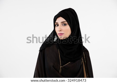 Portrait of Arab woman - stock photo