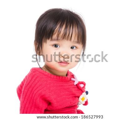 Portrait of Asian child girl - stock photo