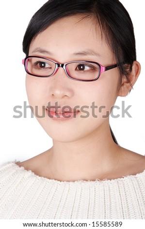 portrait of asian student. - stock photo