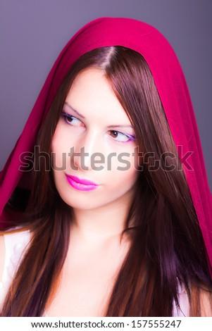 portrait of beautiful arab woman - stock photo