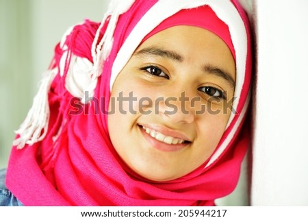 Portrait of beautiful Arabic girl posing - stock photo