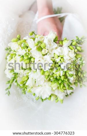 Portrait of beautiful flowers. Wedding. - stock photo
