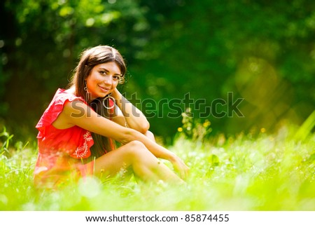 Portrait of beautiful girl - stock photo