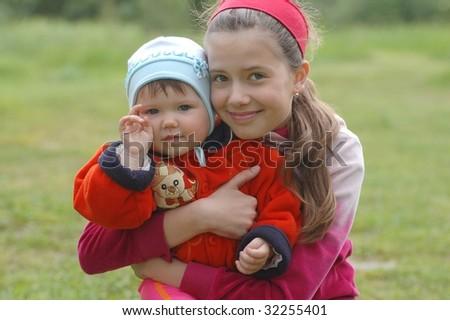 Portrait of beautiful girls - stock photo