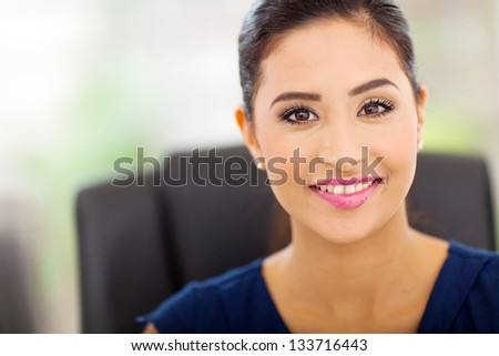 portrait of beautiful indian businesswoman close up - stock photo