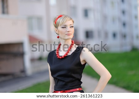 Portrait of Beautiful Sensual Woman  - stock photo