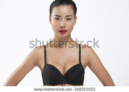Portrait of beautiful sexy asian girl - stock photo