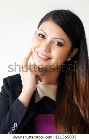 Portrait of beautiful young Asian Smiling - stock photo
