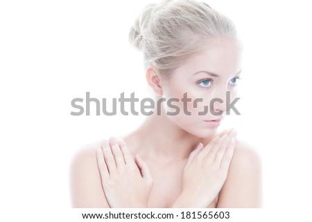 Portrait of beauty woman - stock photo