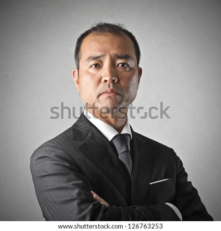 portrait of businessman disappointed - stock photo