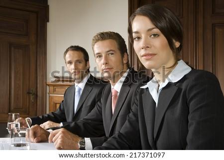 Portrait of businesspeople - stock photo