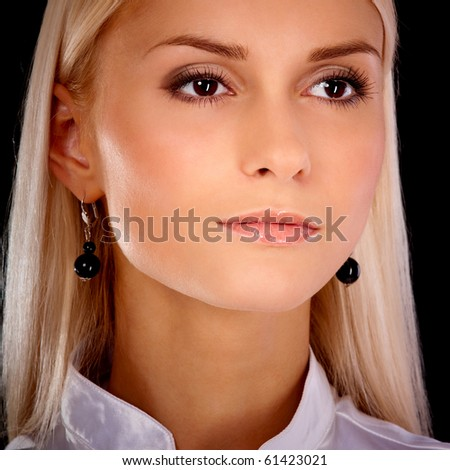 Portrait of charming young woman. - stock photo