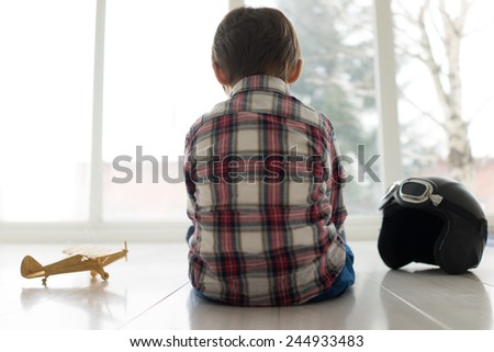 Portrait of child - stock photo