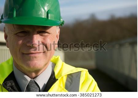 Portrait Of Construction Engineer - stock photo