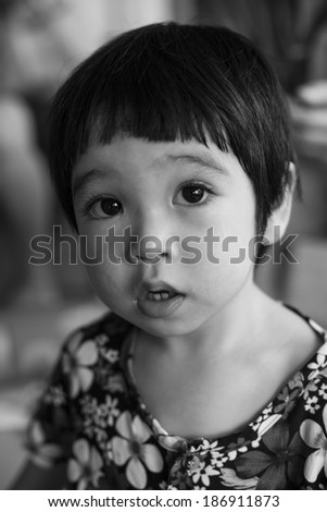 portrait of cute asian boy  - stock photo