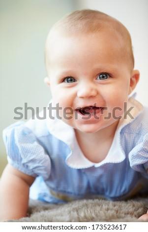 Portrait Of Cute Baby Boy - stock photo