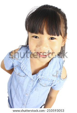 Portrait of cute little girl. - stock photo