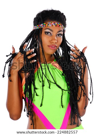 Portrait of ethnic african woman - stock photo