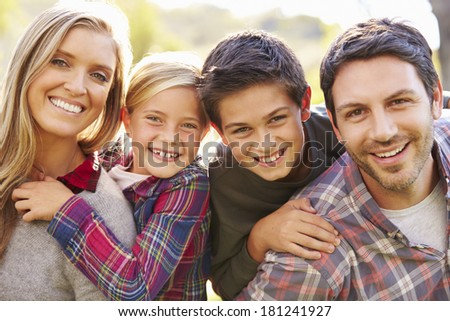Portrait Of Family In Countryside - stock photo