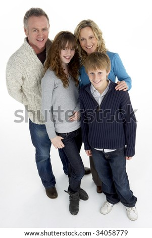 Portrait Of Family In Studio - stock photo