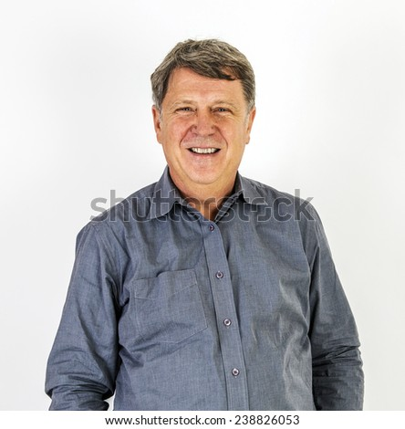 portrait of friendly smiling man  in shirt - stock photo