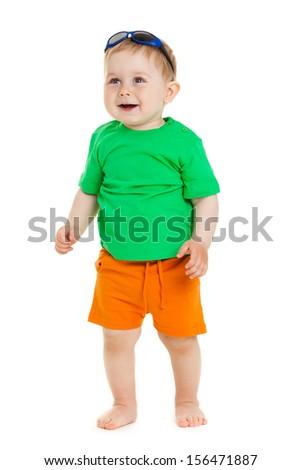 portrait of funny kid - stock photo