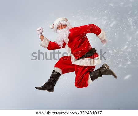 Portrait of funny Santa Claus. - stock photo