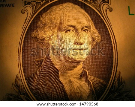 Portrait of George Washington on the American One Dollar Bill - stock photo