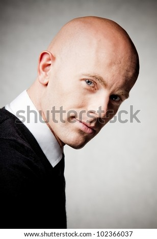 Portrait of good looking business man - stock photo